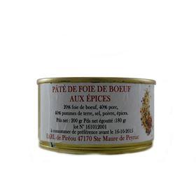 Image de Paté de foie de boeuf aux épices 200g