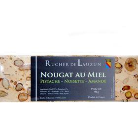 Image de Nougat miel pistache 70gr