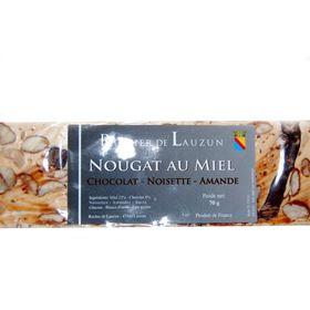 Image de Nougat miel chocolat 70gr
